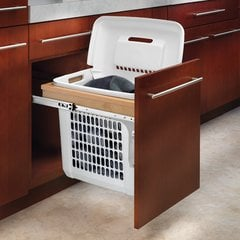 Top Mount Vanity Wood Hamper