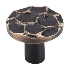 Cobblestone 1-3/8 Inch Diameter Brass Antique Cabinet Knob <small>(#TK296BA)</small>