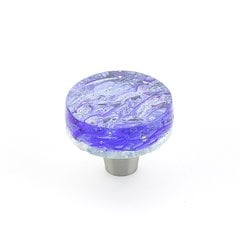 Ice 1-1/2 Inch Diameter Blue Pearl Cabinet Knob <small>(#31-PBL)</small>