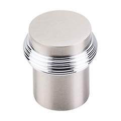 Somerset 1 Inch Diameter Brushed Satin Nickel Cabinet Knob <small>(#M342)</small>