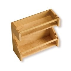 "Adjustable Spice Rack 8-3/4"" L Maple"