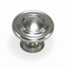 Nantucket 1-3/8 Inch Diameter Satin Pewter Cabinet Knob