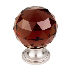 Crystal 1-3/8 Inch Diameter Wine Crystal Cabinet Knob