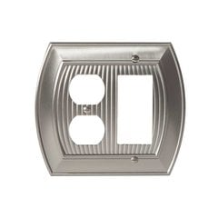 Allison One Rocker, 1 Receptacle Wall Plate Satin Nickel