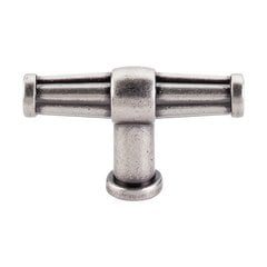 Luxor 2-1/2 Inch Length Pewter Antique Cabinet Knob