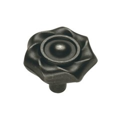 Charleston Blacksmith 1-1/4 Inch Diameter Black Iron Cabinet Knob