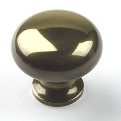 Yukon 1-1/4 Inch Diameter Polished Antique Cabinet Knob