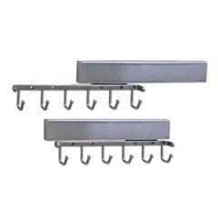 12 Inch Sliding Belt Rack - Polished Chrome