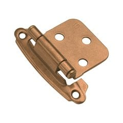 Variable Overlay Hinge Pair Satin Bronze Self Close <small>(#P244-SBZ)</small>