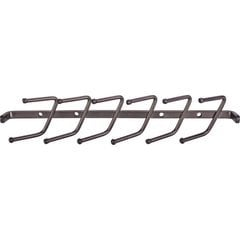 11 Inch Screw Mounted Tie Rack - Brushed Oil Rubbed Bronze