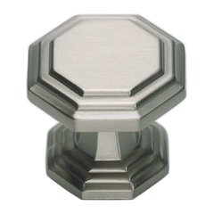 Dickinson 1-1/4 Inch Diameter Brushed Nickel Cabinet Knob
