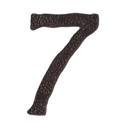 Hammered House Number Seven Copper <small>(#HN7L-O)</small>