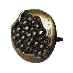 "Round Clavo with Grape Motif 1-3/16"" Dia - Antique Brass <small>(#HCL1254)</small>"