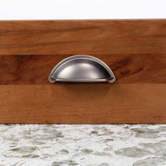 Century Hardware Lisbon 3 Inch Center to Center Antique Bronze/Copper Cabinet Cup Pull 21843-AZC