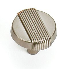 Wired 1-1/4 Inch Diameter Satin Nickel Cabinet Knob