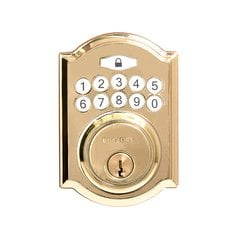 Traditional Electronic Keypad Deadbolt Grade 3 Pol. Brass