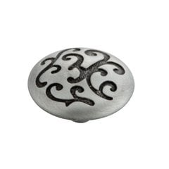Mayfair 1-1/4 Inch Diameter Satin Pewter Antique Cabinet Knob