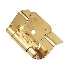 "Full Wrap 1/2"" Overlay Hinge Pair Polished Brass <small>(#P5710F-3)</small>"