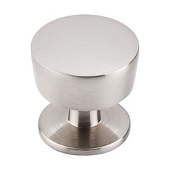 Nouveau III 1-3/16 Inch Diameter Brushed Satin Nickel Cabinet Knob <small>(#M1122)</small>