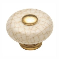 "Tranquility Knob 1-1/4"" Dia Vintage Brown Crackle"