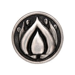 Hope Blossom 1-3/8 Inch Diameter Brilliant Pewter Cabinet Knob