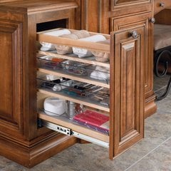 "Rev A Shelf 8"" Soft Close Vanity Organizer-6 Bins"