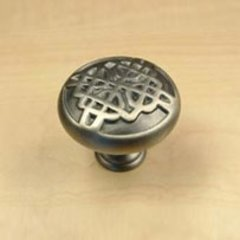 Highlander 1-3/8 Inch Diameter Antique Pewter Cabinet Knob