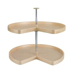 "Kidney Shape Two Shelf Set 32"" Diameter - Wood <small>(#LD-4BW-472-32-1)</small>"