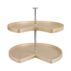 "Kidney Shape Two Shelf Set 32"" Diameter - Wood"