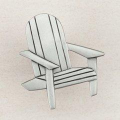"""Beach Chair Knob 1-3/4"""" Dia Antique Pewter"""