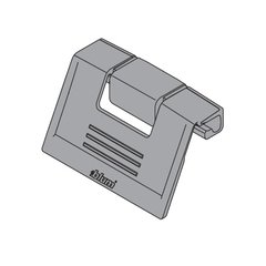 Tandembox Interior Front Handle -Grey <small>(#ZIF.80M5)</small>