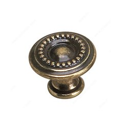 Empire 1-3/8 Inch Diameter Burnished Brass Cabinet Knob <small>(#2440435BB)</small>