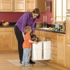 Double Trash Pullout 27 Quart -White