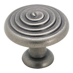 Divinity 1-1/4 Inch Diameter Weathered Nickel Cabinet Knob
