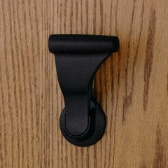"Closet UltraLatch for 1-3/4""and 2 inch Door Textured Black"