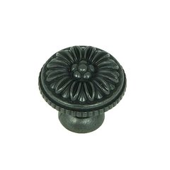 Cornell 1-3/8 Inch Diameter Antique Black Cabinet Knob