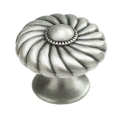 Casual Elegance 1-3/8 Inch Diameter Light Antique Nickel Cabinet Knob
