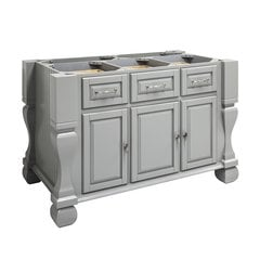 53 inch Tuscan Kitchen Island with o Top - Grey