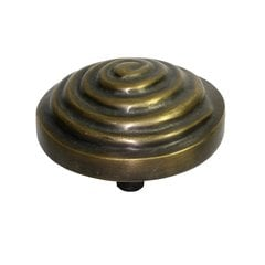Knobs 3 Inch Diameter Unlacquered Antique Brass Cabinet Knob