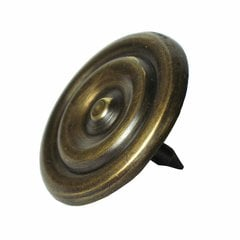 Medium Round Double-Ring Clavo 1-3/8 inch Diameter - Antique Brass