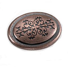 Cimarron 1-3/8 Inch Diameter Antique Copper Cabinet Knob