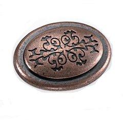 Cimarron 1-3/8 Inch Diameter Antique Copper Cabinet Knob