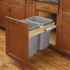Double Trash Pullout 50 Quart W/ Soft-Close <small>(#4WCTM-2150BBSCDM-2)</small>
