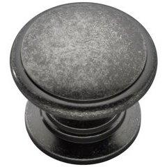Prestige Knob 1-1/4 inch Diameter Black Nickel Vibed