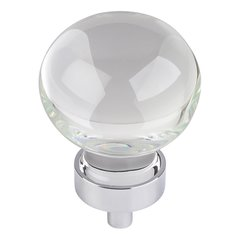 "Harlow Cabinet Knob 1-3/8"" Dia - Polished Chrome"