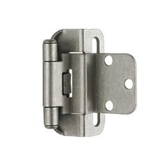 Partial Wrap 3/8 inch Inset Hinge Weathered Nickel - Per Pair <small>(#BPR7565WN)</small>