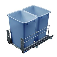 Kessebohmer Double Trash Pullout 36 Quart Grey 502.56.510