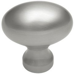 "Solid Brass Knob 1-1/4"" Dia Satin Nickel"