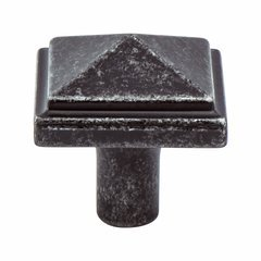 Rhapsody 1-3/16 Inch Diameter Weathered Iron Cabinet Knob