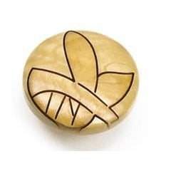 Tonga Round Wood Leaf Knob 1-3/8 inch Diameter Maple